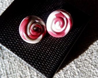 Wine and Pearl Swirls