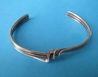 Vintage Southwestern Sterling Silver Twist Twisty Cuff Bracelet