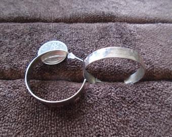 950 Sterling Silver Textured J-Hoop 6.3g Post Earrings