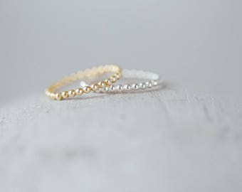 Dotted Stacker Ring // Gold Stacker Ring // Silver Stacker Ring