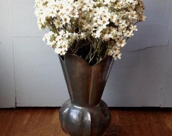 Small metal vase, italian pewter vase, cottage decor, housewarmng gift, ladies gift