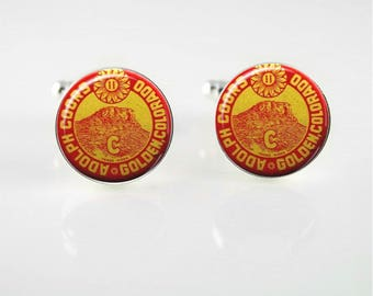 Vintage Coors Beer Cuff Links or Tie Clip
