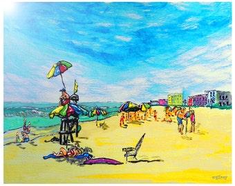 Beach Art...Surf Art by W Gilroy...