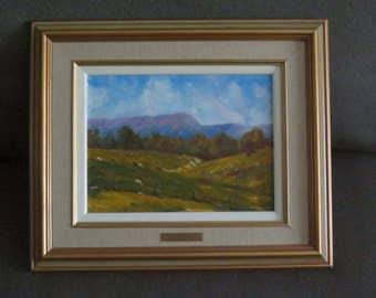 Vintage Oil Painting by Olivier de France , Landscape painting