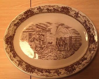 Restaurant Ware WESTERN TRAVLER PLATTER 13+ inch platter