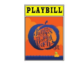 Theater / Show Charm - Playbill Play Bill - James and the Giant Peach JR