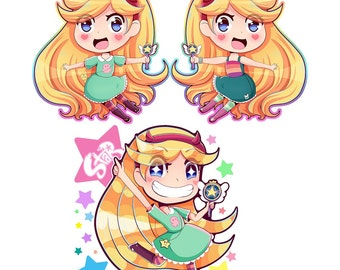 Star Butterfly Charms