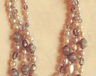 Vintage Austria Multi Strand Necklace