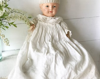 "A lovely vintage composition ""Perfect"" Christenng Doll"