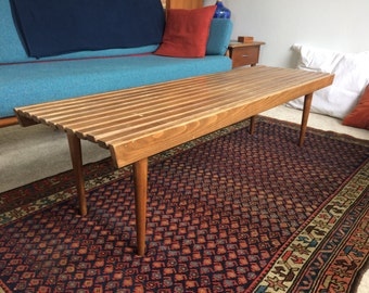 Vintage Slat Coffee Table |Mid Century Modern Classic | Made in Yugoslavia | SALE PENDING