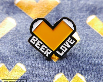 Beer Soft Enamel Pin, Beer Love, Heart, Craft Beer