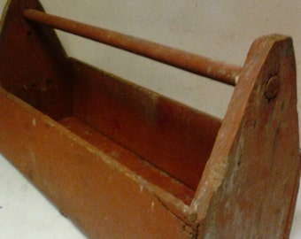 Wooden tool tote or box