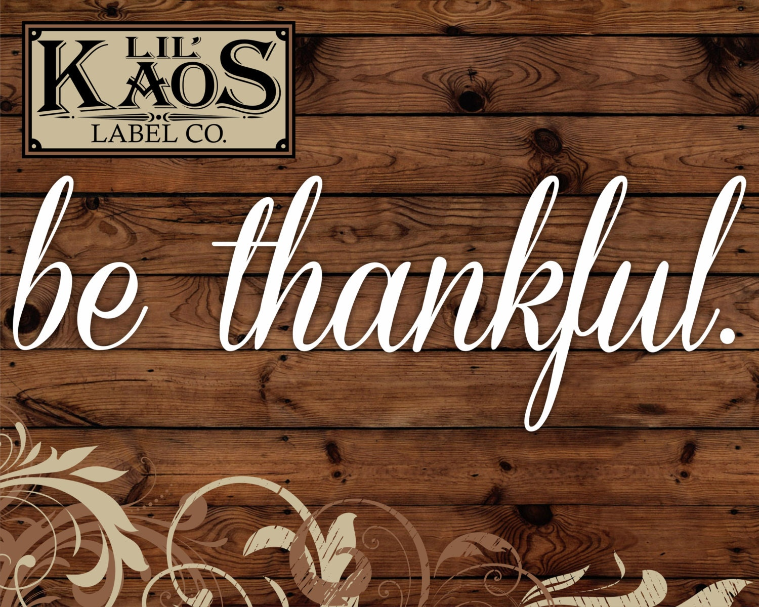 Be Thankful Vinyl Decal Sticker For Rustic Wood Sign Diy Wood