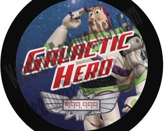 "Galactic Hero 3"" Button  