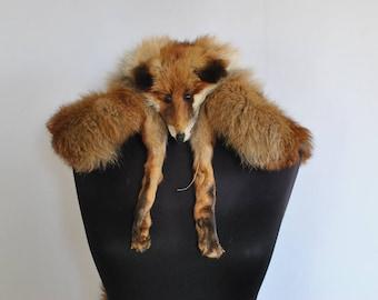 Vintage FOX FUR COLLAR , women's  fox fur collar ....(035)