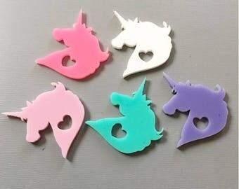 Unicorn Kawaii Cute Festival Laser Cut Acrylic