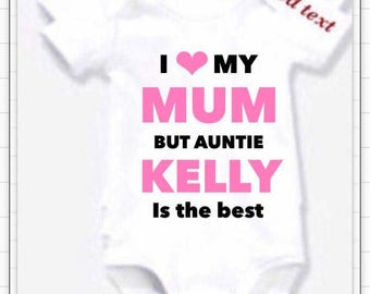 Auntie is best Twinkle in my eyes pink Bodysuit or Design your own