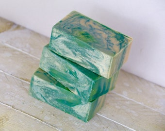 Lime Green Body Soap. Natural Bar Soap