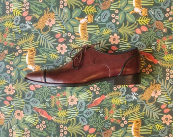 Brown & Black Men's Oxford Shoes - Brown Shoes- Brown Shoes- leather Shoes- brown calf Shoes - brown Shoes for Men- Hand Made Shoes - Arama