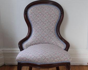 Delightful Vintage Victorian Slipper Chair