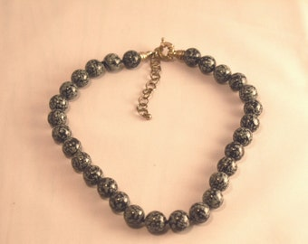 Whitney Kelly Sterling Silver Snowflake Obsidian Necklace