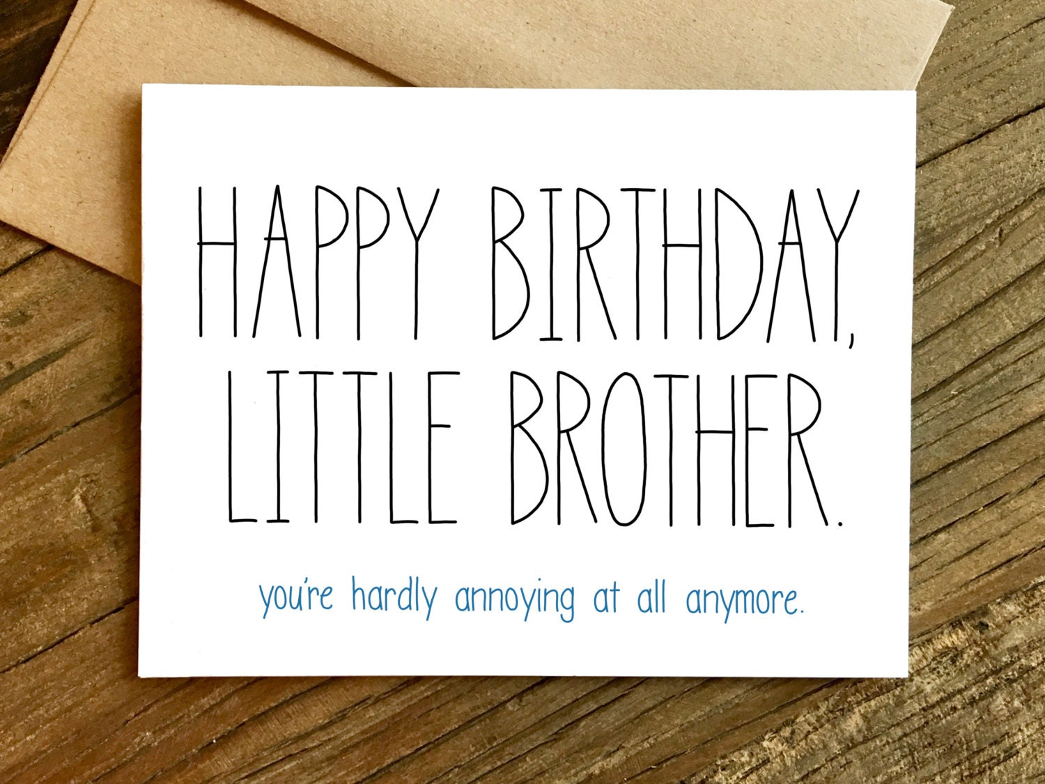 funny brother card  etsy, Birthday card