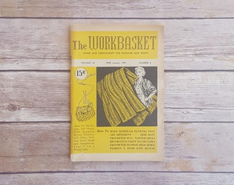 Doily Patterns To Crochet Vintage Crochet Patterns 1950s Home Wears Do It Yourself Home Pieces Workbasket 1950s Yellow Magazine Retro Read