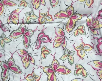 Pretty butterfly p&w pattern so soft Smooth Cotton Fabric 45*140 cm cotton knit 1/2 yard