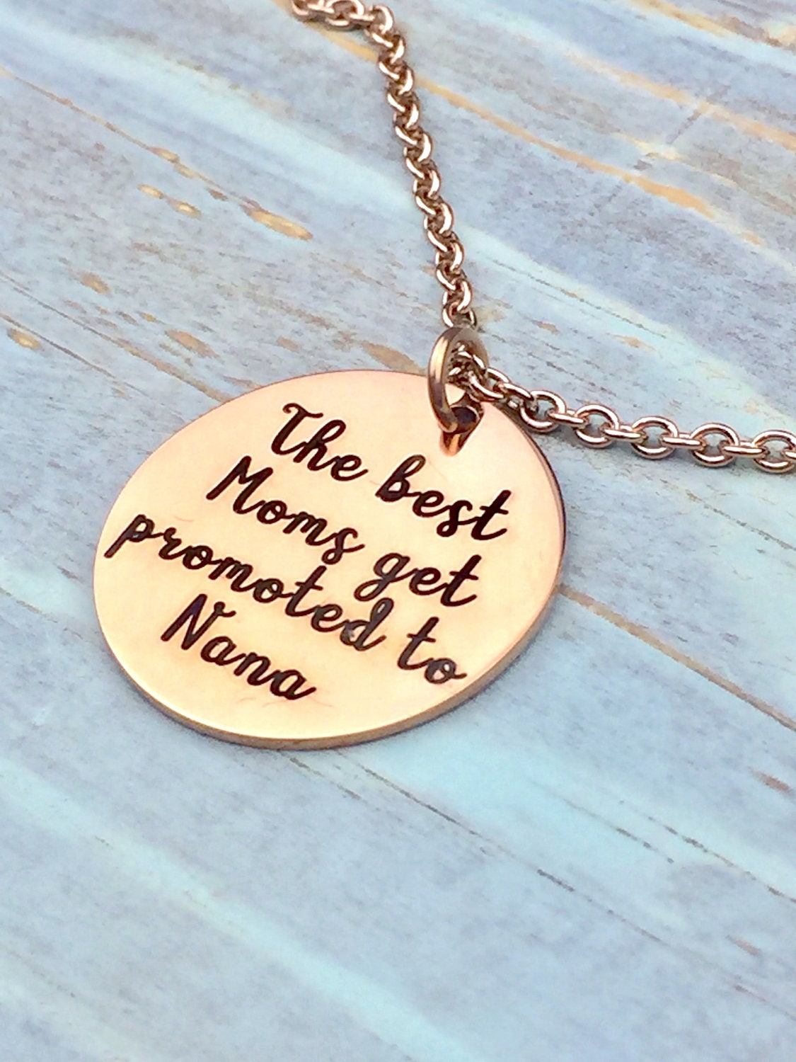 Best Moms Get Promoted Customized Necklace, grandma, nana ...
