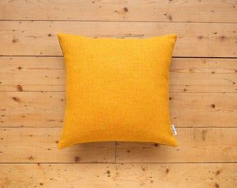Harris Tweed Yolk Yellow Cushion