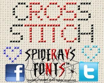 Cross Stitch Commerical Font