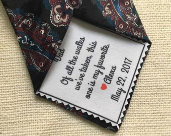 "Ink Printed WEDDING TIE PATCH - Little Heart Accent - Choose Message and Font - 2.5"" x 2.5"" Sew on, Iron On, Father of Bride or Groom, Groom"