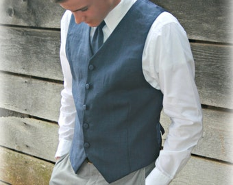 Mens Linen Vests from Keepers at Home