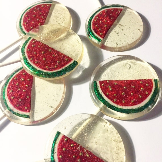 3 Sparkling Watermelon Lollipops
