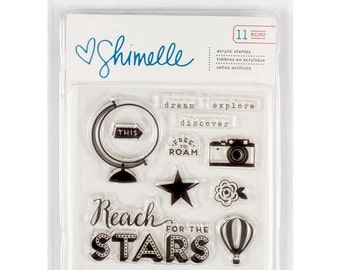Shimelle STARshine Collection, 11 Piece Acrylic Stamp Set
