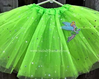 Tinkerbell tutu tinkerbell outfit tinkerbell skirt lime green tutu sparkle tutu fairy tutu baby tutu toddler tutu party tutu birthday tutu