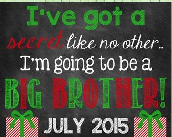 Chalkboard Pregnancy Announcement // Christmas // Big Brother // Christmas Big Brother