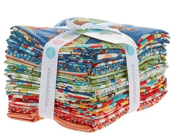 Riley Blake - Road Trip by Kelly Panacci Fat Quarter Bundle 18 count - Quilt, Quilting, Crafts