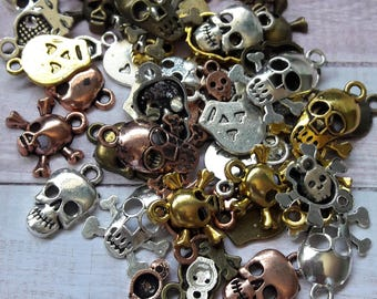 Charm Me Mixed Metal Skull Charms Jewelry & Craft Supplies