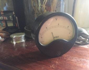 Vintage GEC Bakelite Cased Voltage Meter - Steam Punk Retro