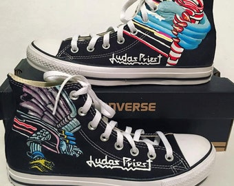 Vans custom, Minions, One Direction, Sesame Street, Avengers, Judas Priest Custom Converse painted by hand