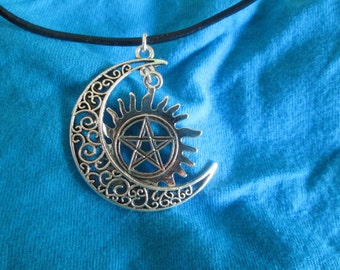 Sun, Moon and Star Necklace