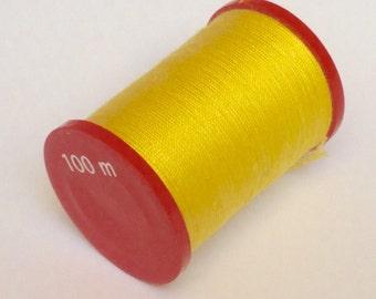 Crochet yarn, strength 50, yellow, 100m