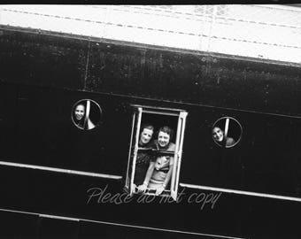 Vintage Photography NEGATIVE ~ cruise ship fun ~ summer memories
