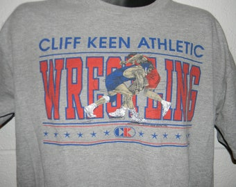 Vintage Cliff Keen Athletic Greco Roman Wrestling T-Shirt Large