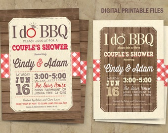 I do BBQ Invitation, I do BBQ  Couples Shower, Bbq Invitation, I do BBQ Couple Shower Invitation, Digital Printable Files