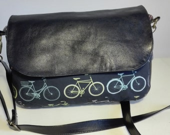 leather bag, messenger bag, bag black leather, skin, bikes, bicycle, women bag handbag