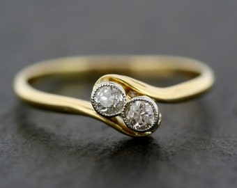 Antique Engagement Ring - Art Deco Diamond Engagement Ring - Antique Diamond Ring