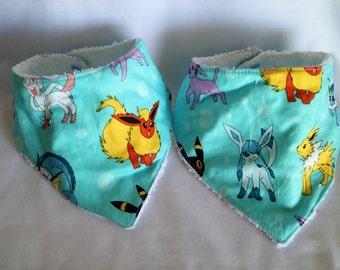 Pokemon, Eeveelutions inspired bandana bibs.
