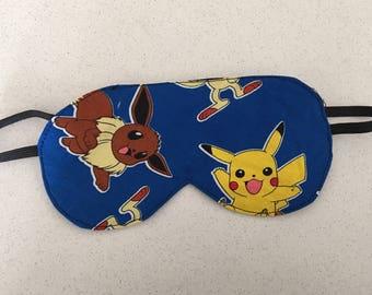 Pokemon themed eye/sleepmask.